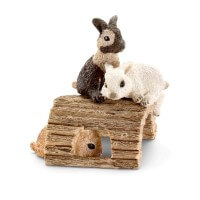 Schleich Baby Rabbits Playing Toy
