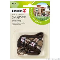 Schleich Blanket and Headstall Plaid Toy