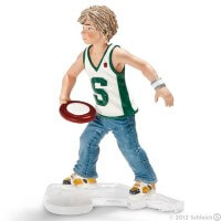 Schleich Boy with Frisbee Toy