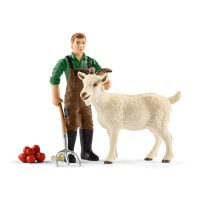 Schleich Farmer with Goat Toy