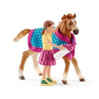 Schleich Foal with Blanket Toy