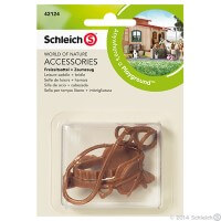 Schleich Leisure Saddle and Bridle Toy
