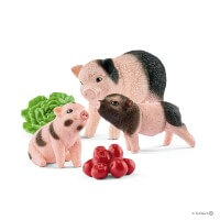 Schleich Mini Pig and Piglets Toy