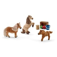 Schleich Miniature Shetland Family Toy