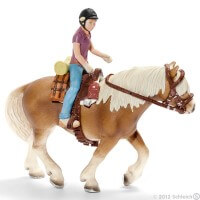 Schleich Pony Riding Set, camping Toy