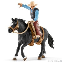 Schleich Saddle Bronco with Cowboy Toy