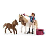 Schleich Stablehand with Shetlands Toy