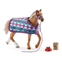 Schleich Thoroughbred w Blanket Toy