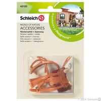Schleich Western Saddle and Bridle Toy