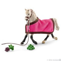Schleich Arab Mare with Blanket Toy