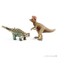 Schleich Saichania and Giganotosaurus Small Toy