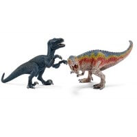 Schleich T-Rex and Velociraptor Small Toy