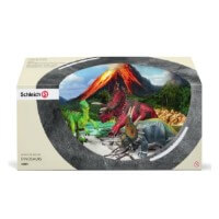 Schleich Two Herbivores with Velociraptor Toy
