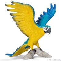 Schleich Blue and Yellow Macaw Toy