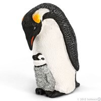 Schleich Emperor Penguin with Chick Toy
