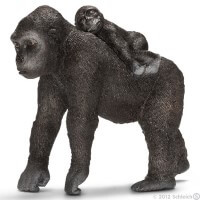 Schleich Gorilla Female with Young Toy