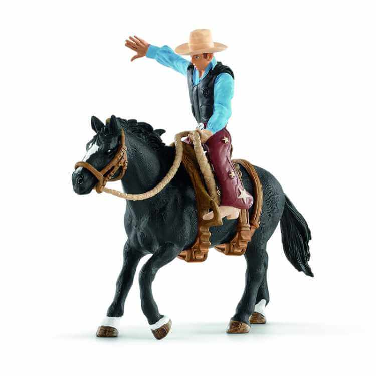 Saddle Bronco with Cowboy