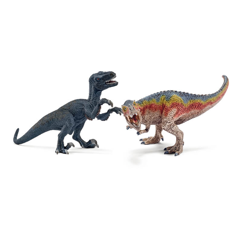 T-Rex and Velociraptor Small