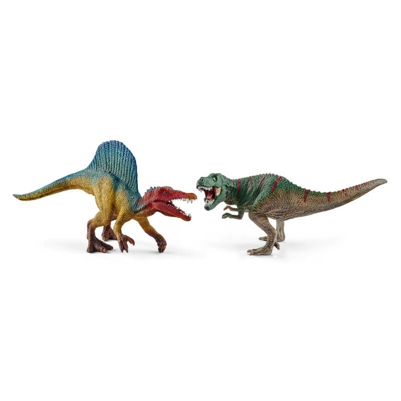 Spinosaurus and T-rex small